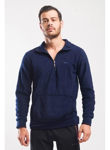 Slazenger Fırsat Ürünü - Polar Sweatshirt Lacivert